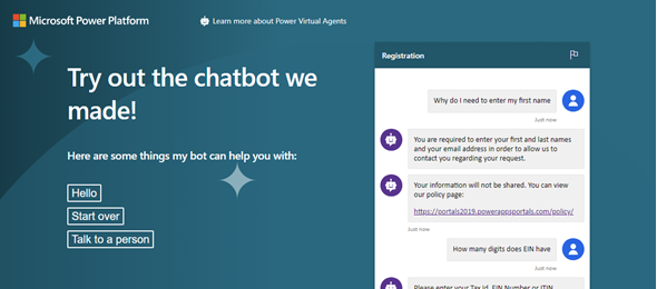 Embed a simple Power Virtual Agent in Power Apps Portal