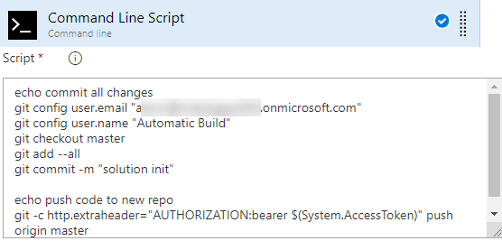 Azure DevOps ALM Process - Command Line Script - Commit to Git