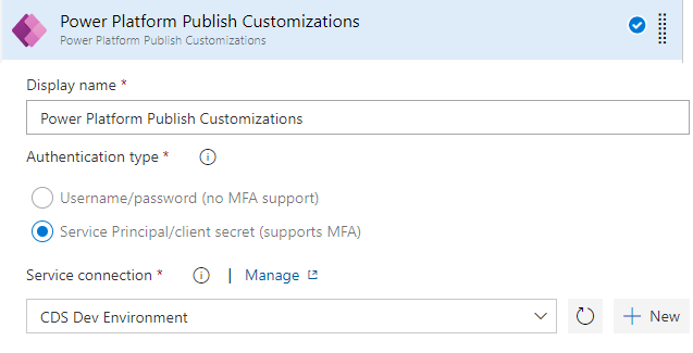 Power Platform Build Tools - Publish Customizations