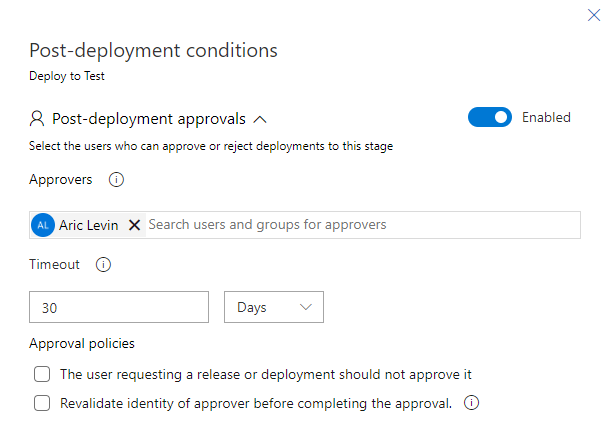 Azure DevOps ALM Process - Release Pipeline - Post Deployment Conditions