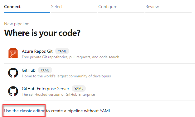 Azure DevOps - Connect to Source Code Repository