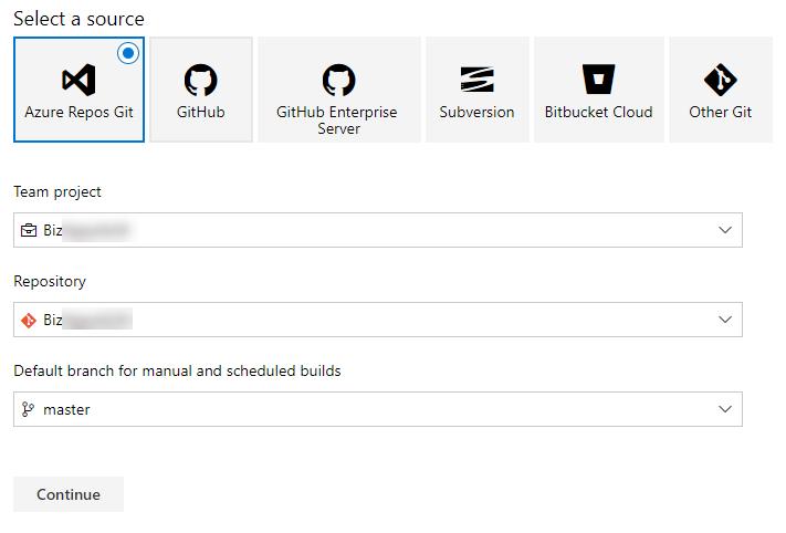 Azure DevOps - Select Repo Source