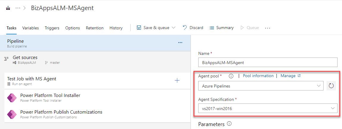 Azure DevOps - Test with MS Agent