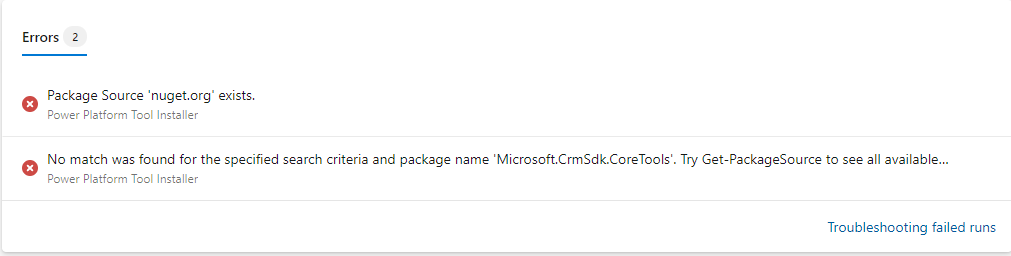 Azure DevOps - Failed Test with Self Hosted Agent