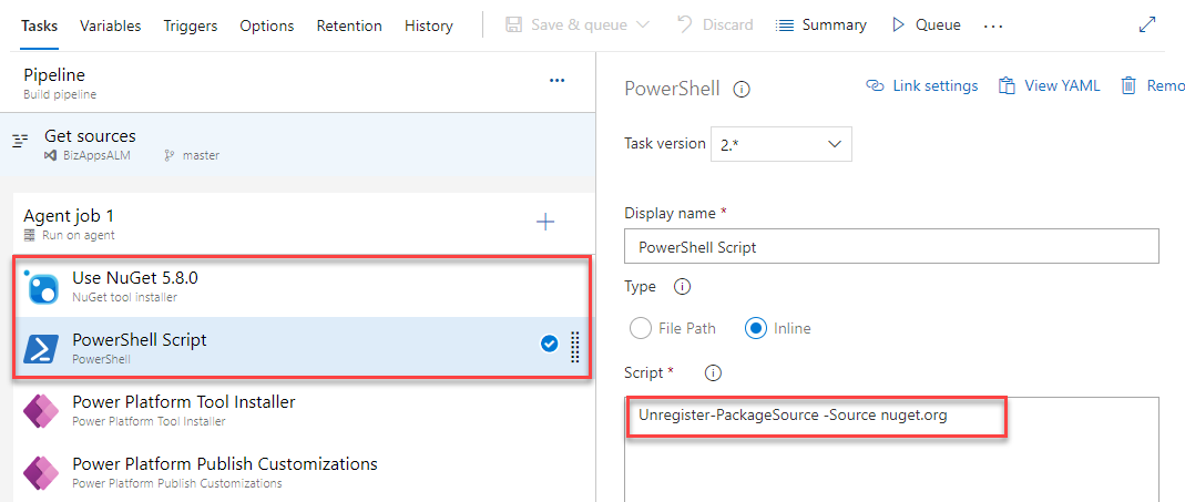 Azure DevOps - Test with Self Hosted Agent including Fix