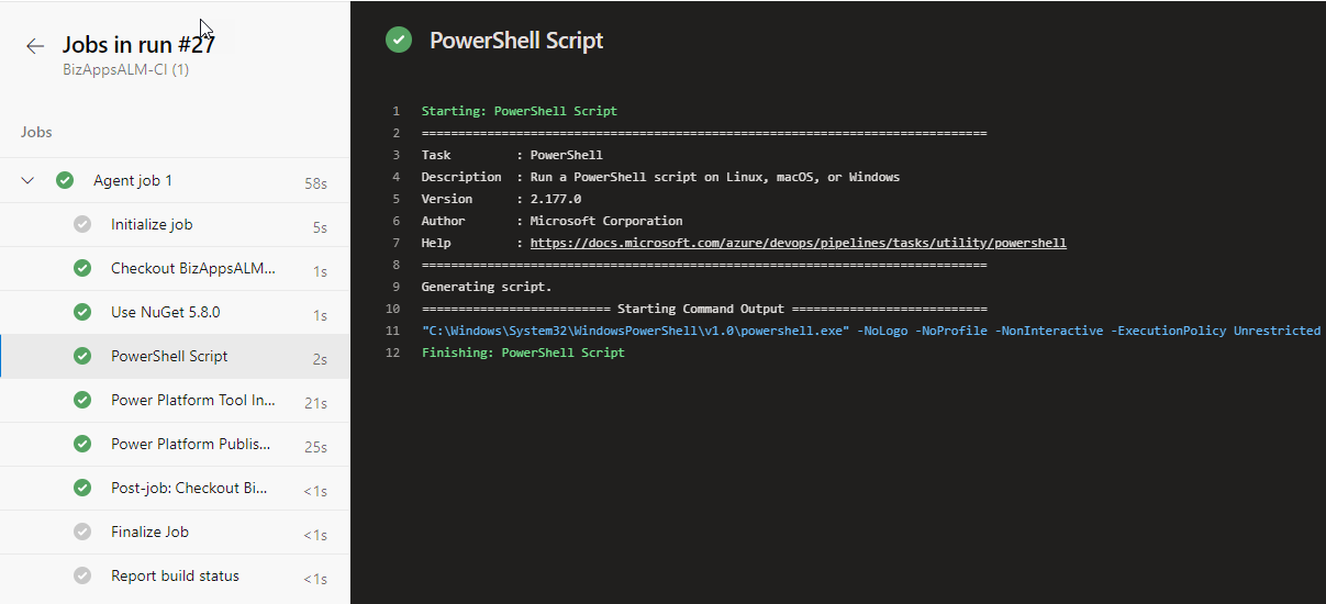 Azure Devops - Successful Test with Fixed Self Hosted Agent