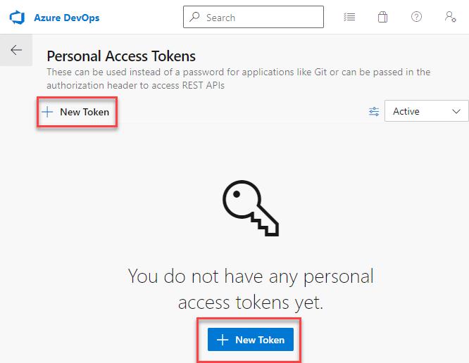 Azure DevOps Pipeline - Cloud Flow - Personal Access Token - New Token Button