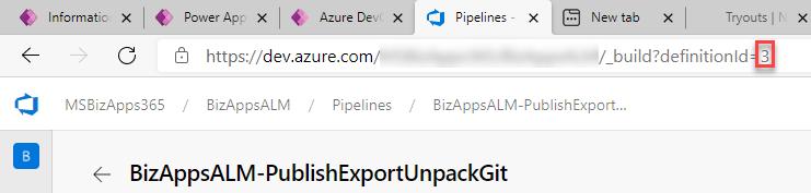 Azure DevOps Pipeline - Cloud Flow - Pipeline Url (Definition Id)