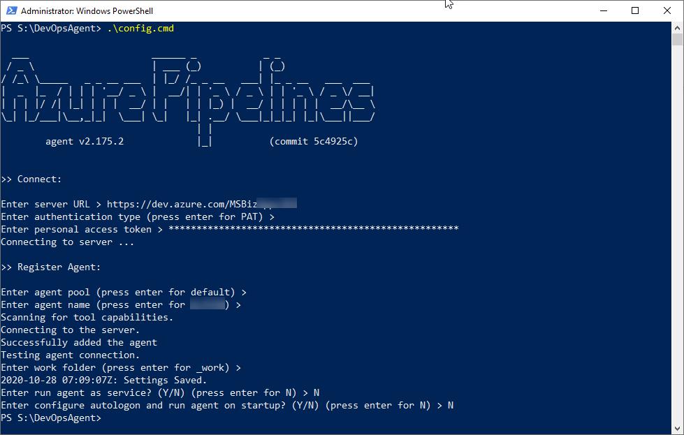 Azure DevOps - Agent Configuration PowerShell Script