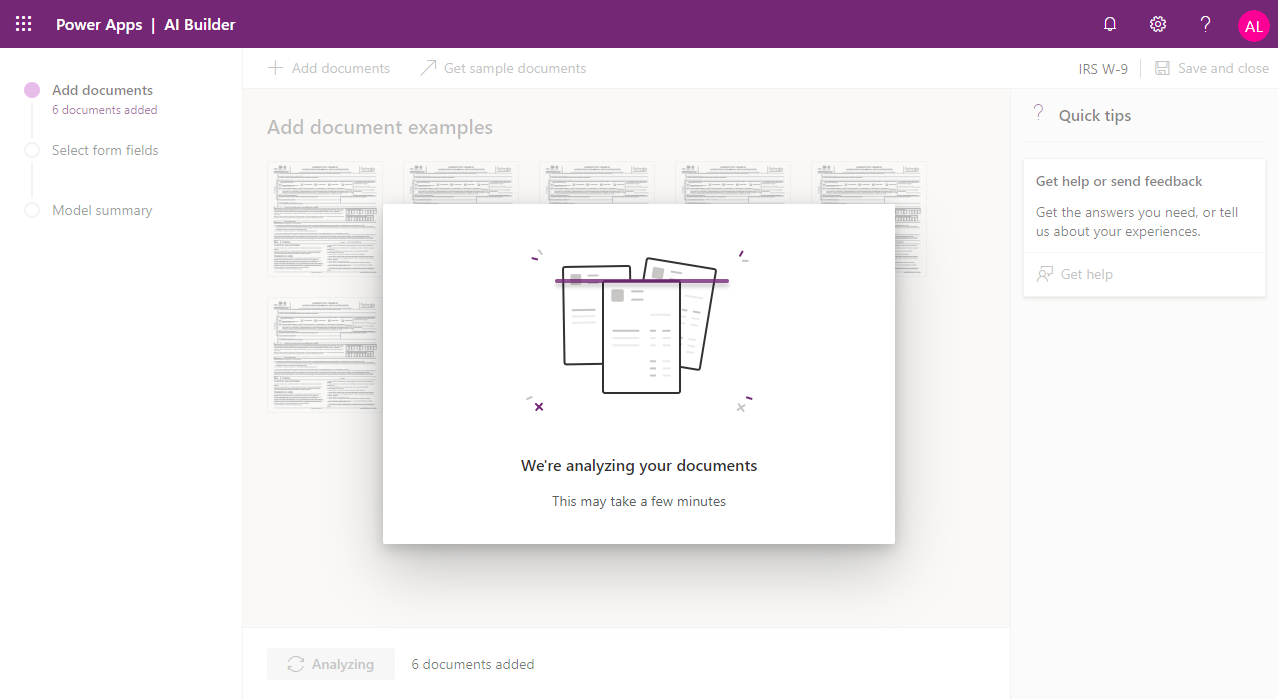 AI Builder - Analyzing Documents