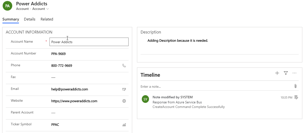 Azure Service Bus Integration (End to End - Second Try)