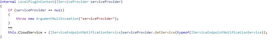 Get Service for Azure Service Bus Listener