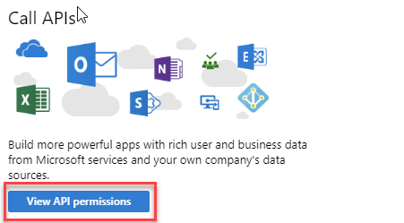 Azure AD App Registration - Call APIs
