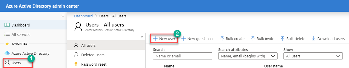 Azure AD - Add New User