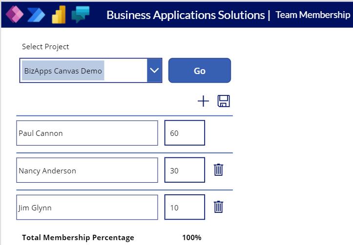Canvas App - Membership Management - Canvas Multiple Members - 100%
