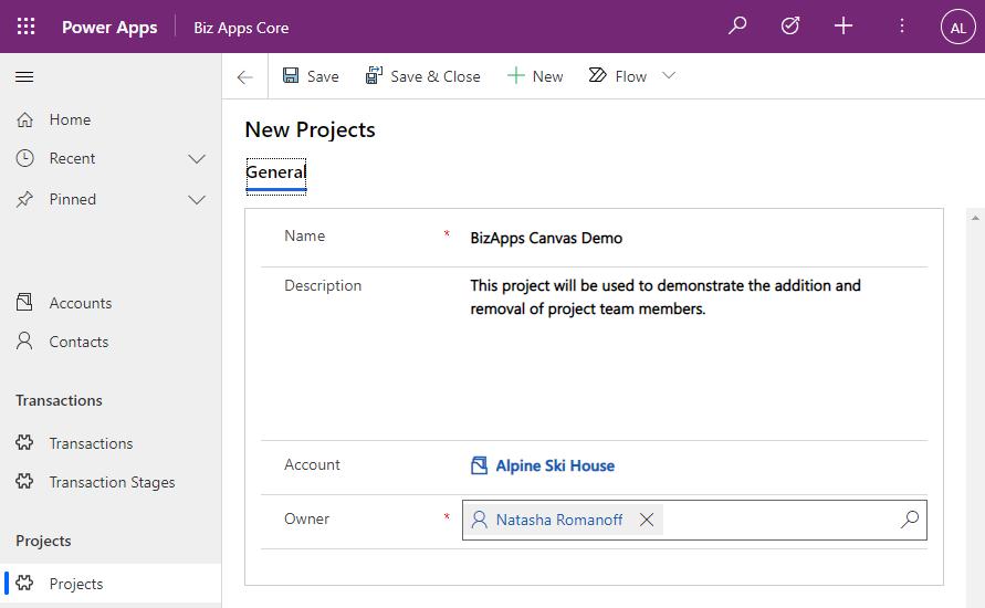 Canvas App - Membership Management - New Project