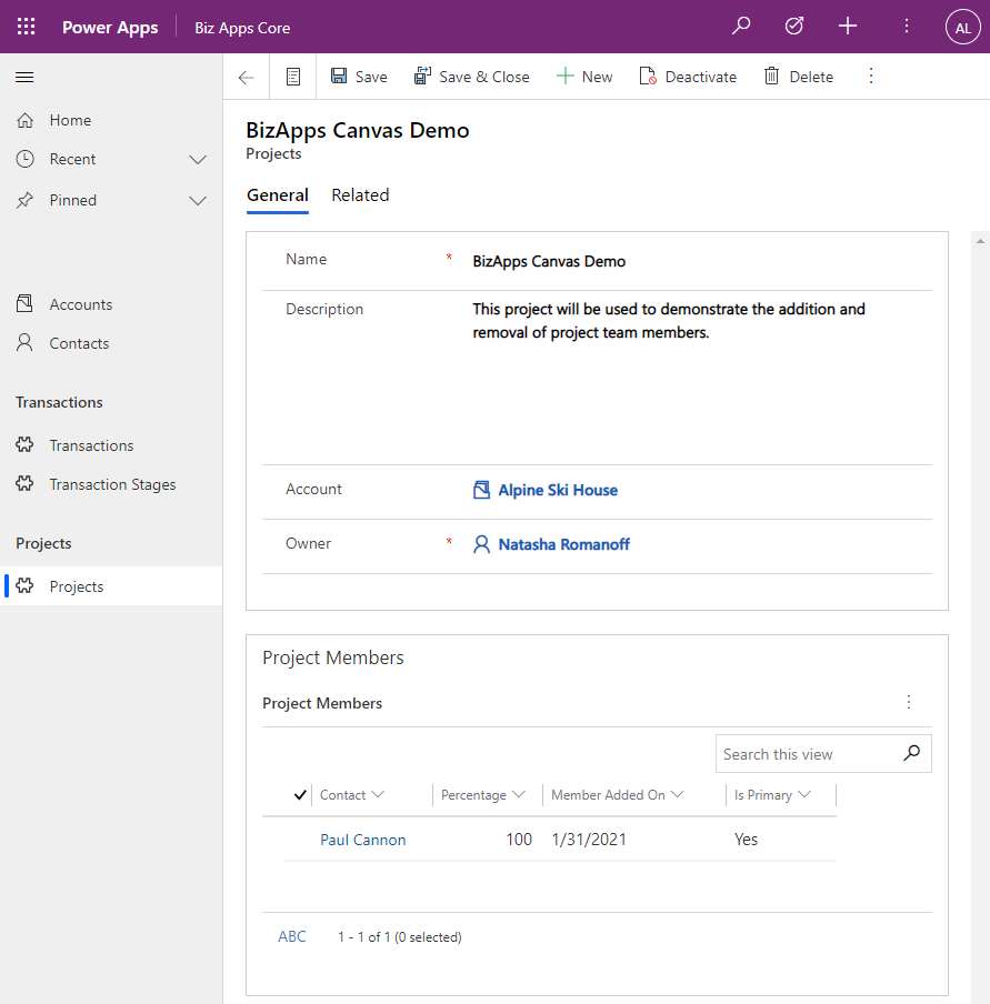 Canvas App - Membership Management - New Project - After Cloud Flow