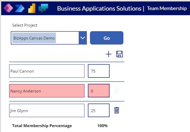 Canvas App - Membership Management - Canvas Multiple Members - Remove