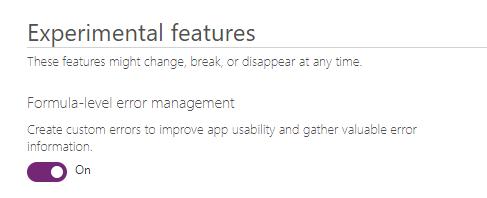 Canvas App Dataverse Privilege - Add Function Level Error Management Feature