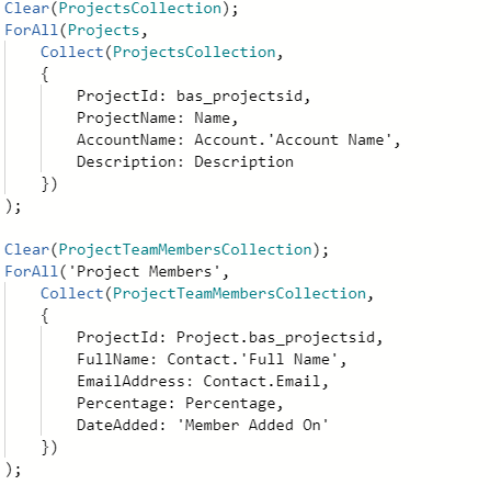 Canvas App Dataverse Privilege - Source Code for Collection