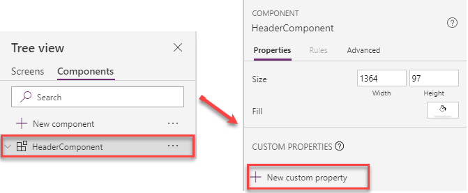Add New custom property