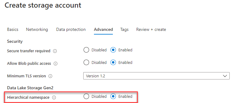 CDS Export to Data lake - Create Storage account (Advanced)