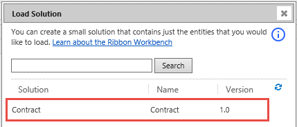 Ribbon Workbench - Select Unmanaged Solution