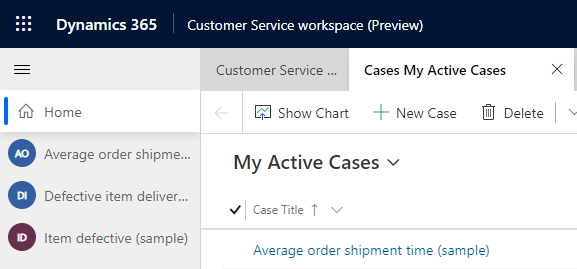 Customer Service Workspace (Preview) - Multiple Sessions