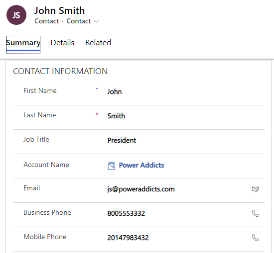 Create New Contact from Common Data Service (will trigger flow)