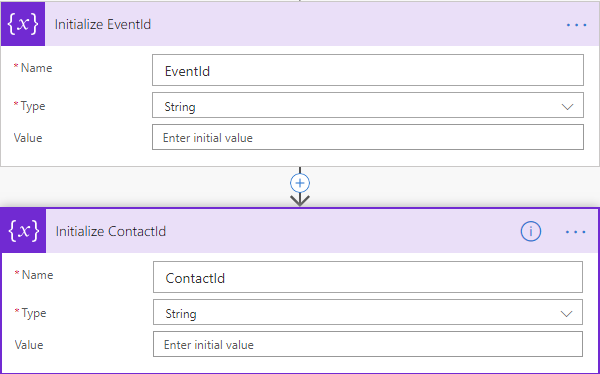 Eventbrite Integration - Attendee Flow Initialize Variables 2