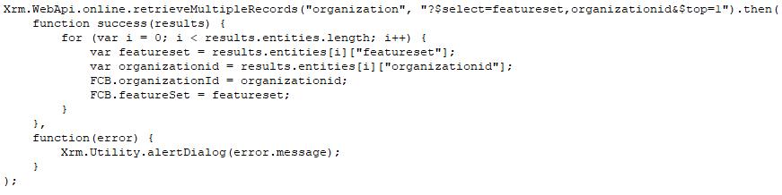 Organization Features - Retrieve