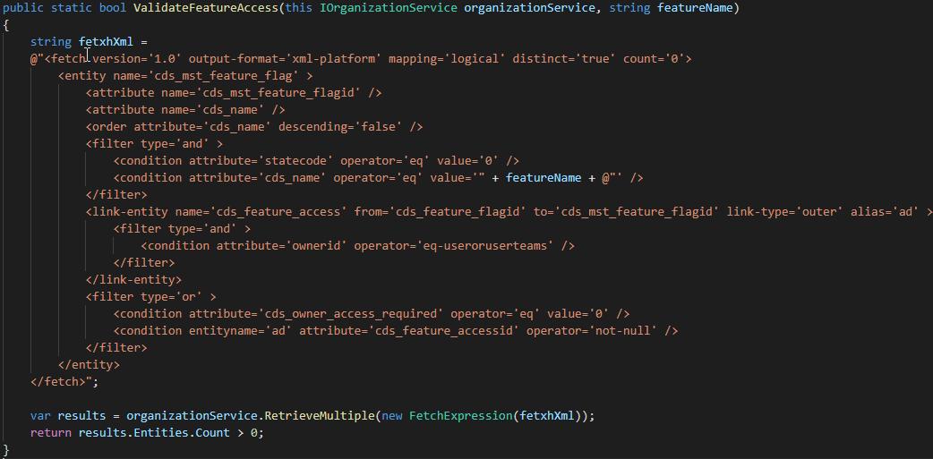 Feature Flag C# Code