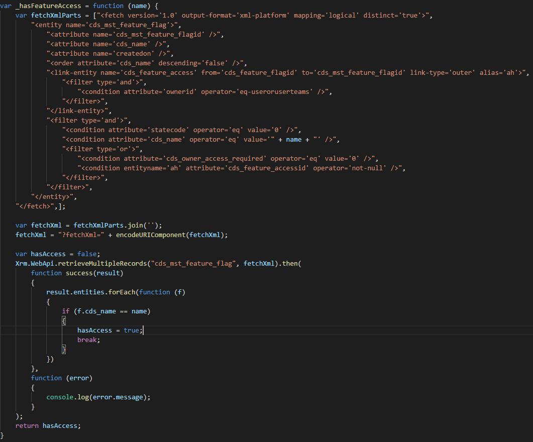 Feature Flag JavaScript Code