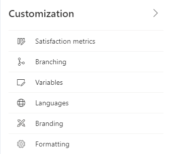 Forms Pro to Dynamics 365 Customer Voice - Customization Pane