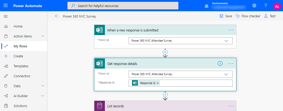 Forms Pro to Dynamics 365 Customer Voice - Power Automate