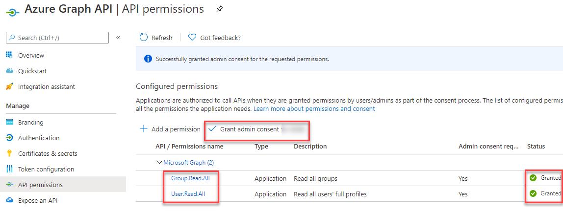 Microsoft Graph - App Registration - Api Permissions