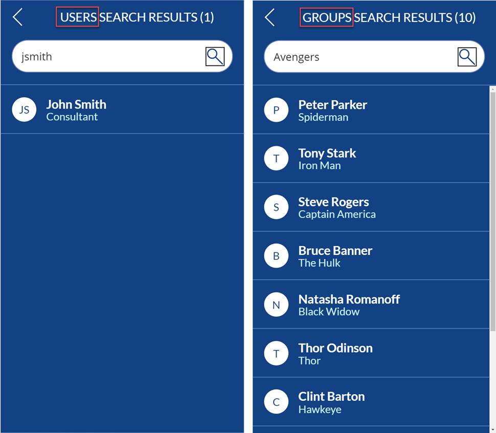 Microsoft Graph - Canvas App - Search Screen