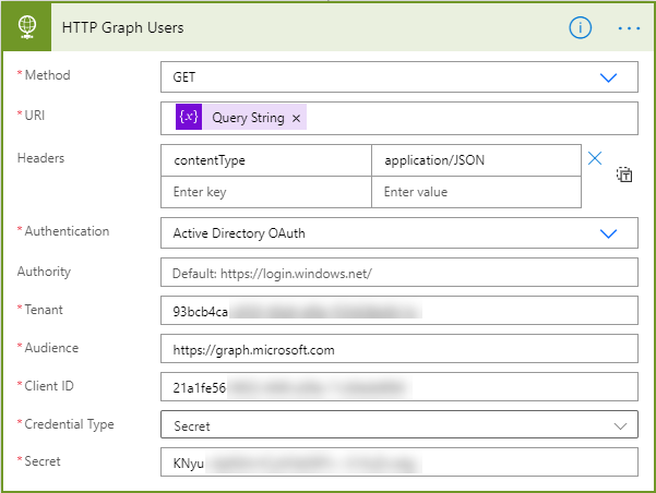 Microsoft Graph - Power Automate - HTTP Request