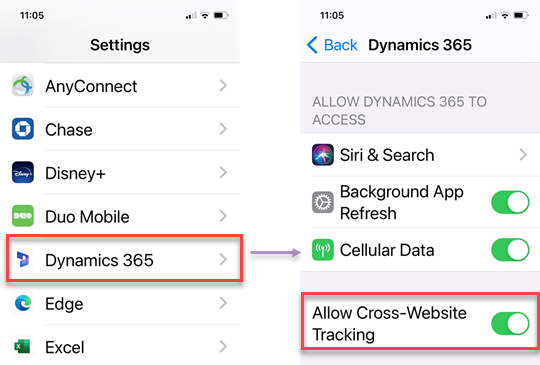 Update Cross-Website Tracking on iOS 14 Devices