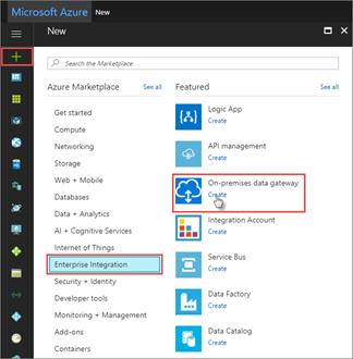 Create On-Premises data gateway in Azure Portal