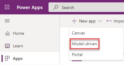 Modern Designer Preview - New Model-Driven App
