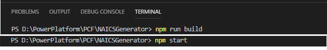 npm run build, npm start