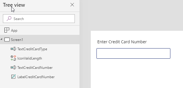 Credit Card Validation Form (PowerApps)