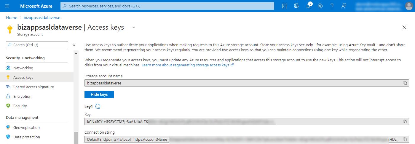Azure Storage Account - Access Keys
