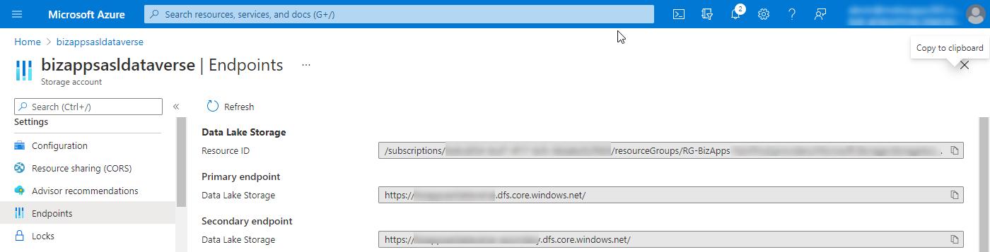 Azure Storage Account - Endpoints - Data Lake