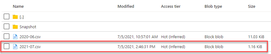 Azure Storage Account - Sync Results after new record created