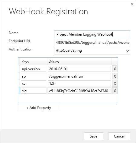 Dataverse Web Hook - Cloud Flows - Web Hook Registration